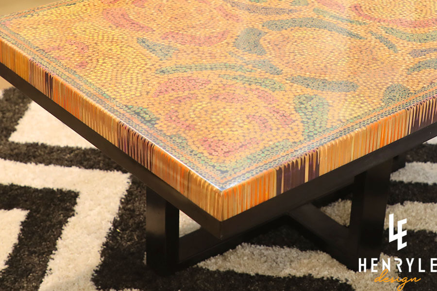 Rose Garden Colored-Pencil Coffee Table III 11