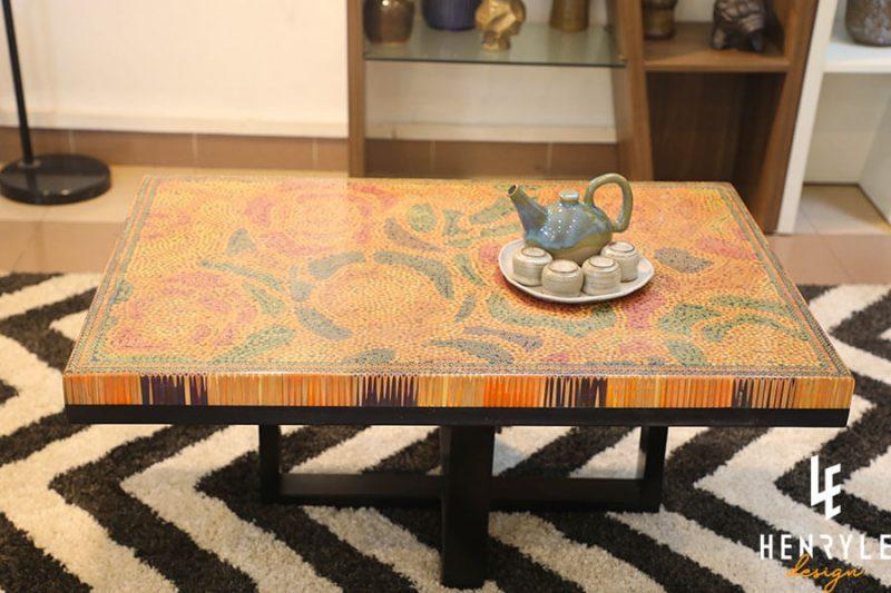 Rose Garden Colored-Pencil Coffee Table III 12
