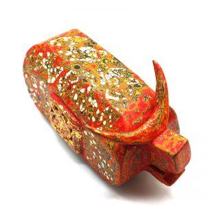 Royal Buffalo - Vietnamese Lacquer Artworks by Artist Nguyen Tan Phat