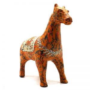 Royal Horse - Vietnamese Lacquer Artworks by Artist Nguyen Tan Phat
