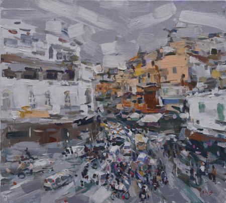 Rush-hour-III-Arcylic-on-Canvas-110×1001