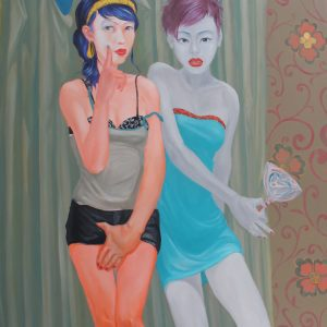SOLD-90x110-cm-Two-girl-and-the-lollipop