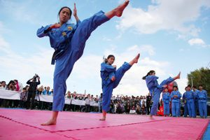 Scottish Woman Gets Medal For Martial Arts