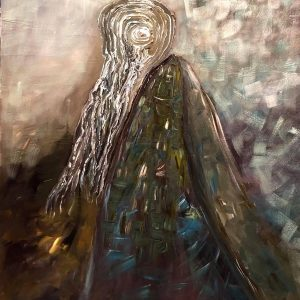 Self Potrait - vietnam acrylic paintings