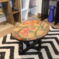 Single Curves Colored-Pencil Coffee Table 11