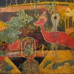 Sleepwalking in the City Tran Dan Vietnamese Paintings
