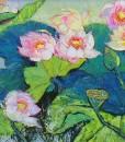 (Sold)-Lotus-pond-in-Spring---75.150cm