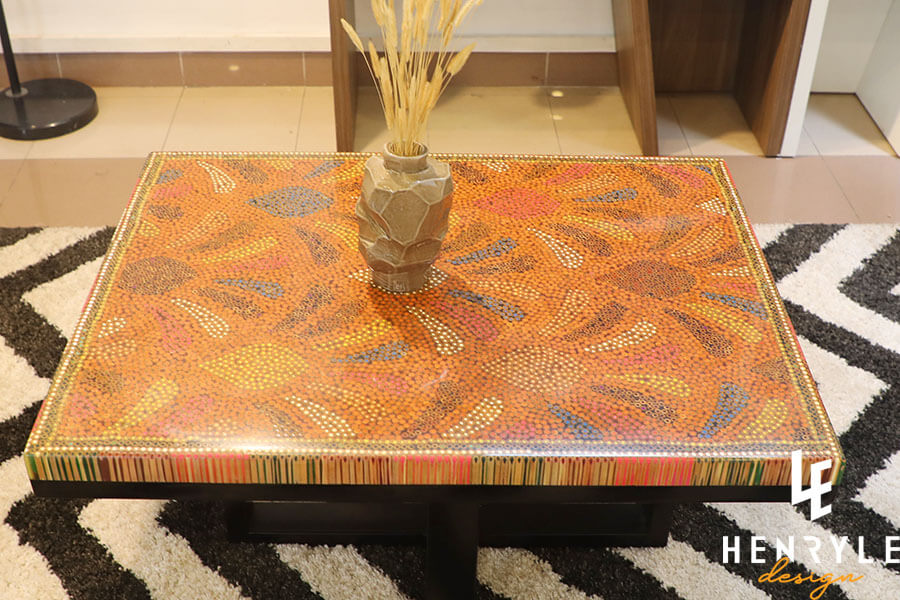 Spring Buds Colored Pencil Coffee Table II 10