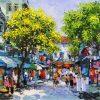 Spring comes to Hanoi - acrylic paintings