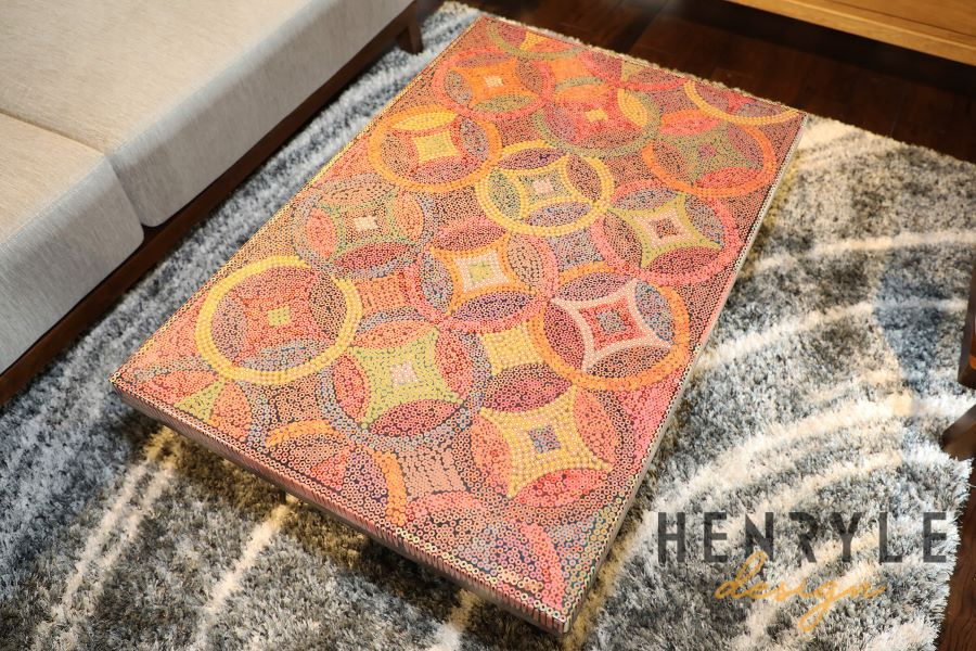 Starry Night Colored-Pencil Coffee Table I 1