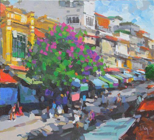 Street in Riverside, Vietnam Art Paitings