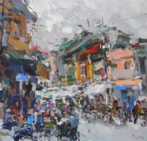 Street market Hanoi