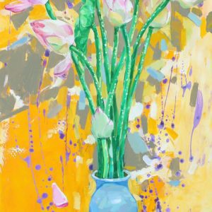 Summer Color 10 - Vietnamese Oil Paintings Flower by Artist Dinh Dong