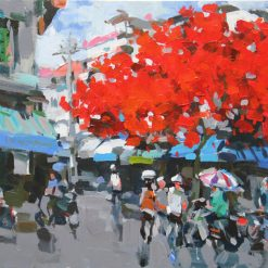 Summer in Hanoi Street Corner, Best Vietnam Art Gallery