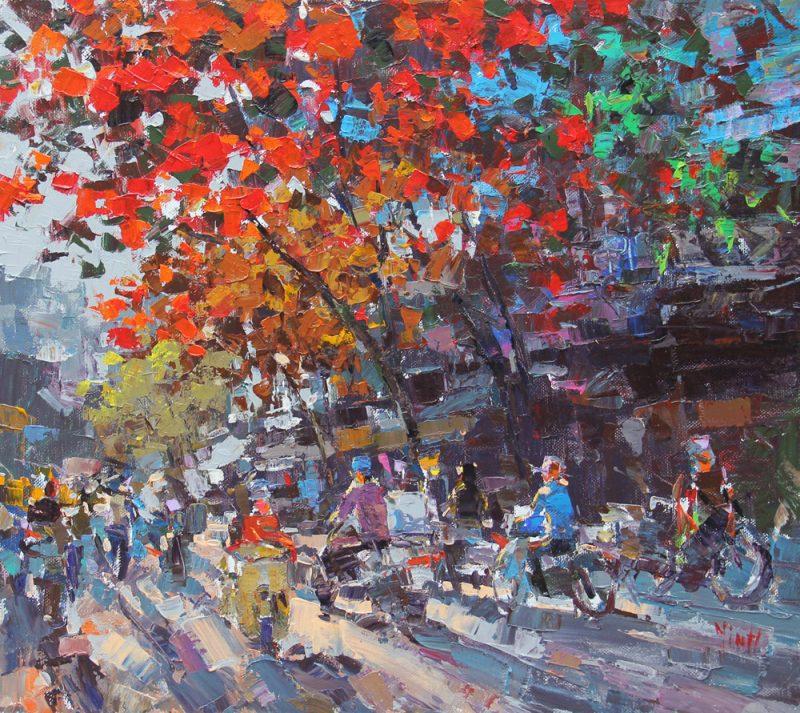 Sunset on Hanoi Street Corner
