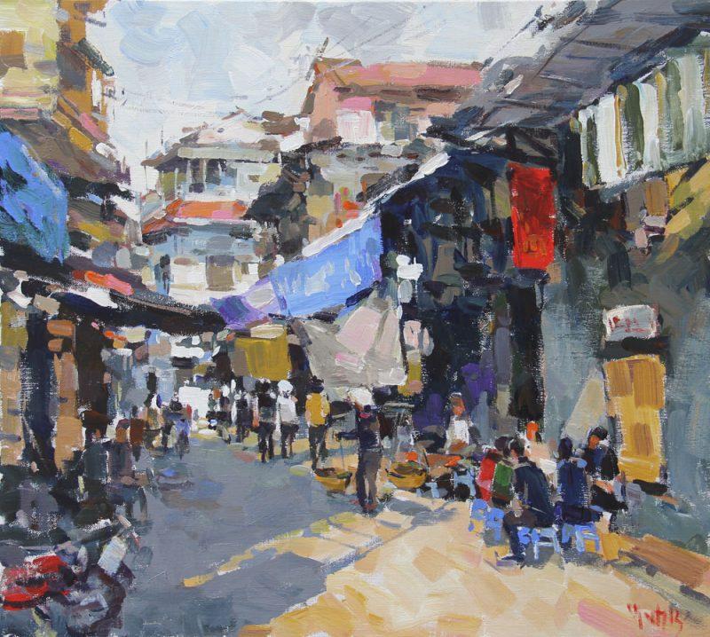 Thanh Ha street market