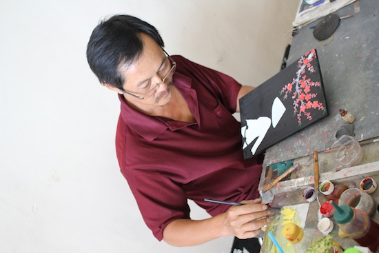The Process Of Making Lacquer Of Vietnam Fine Art