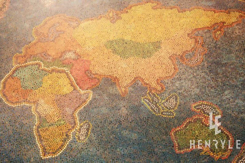The World Map Colored Pencil Coffee Table 5