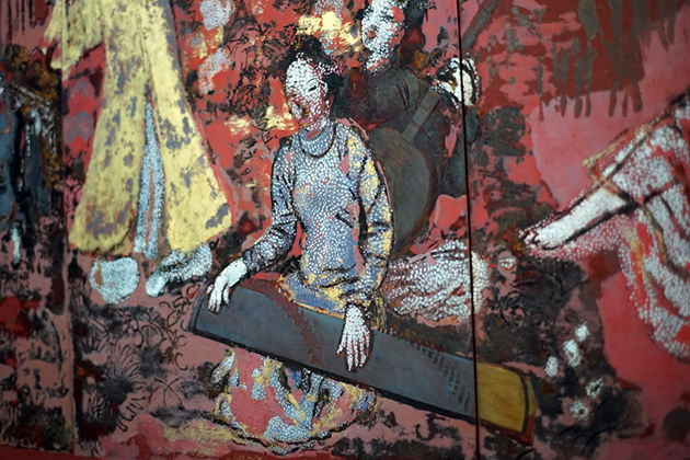 The limitation of lacquer material in Nguyen Gia Tri Paintings