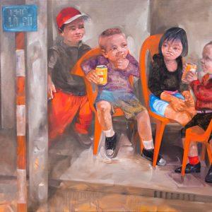 The side walk, Vietnam Art Painting