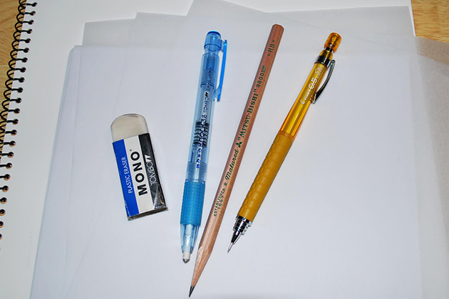 The tools used in sketching