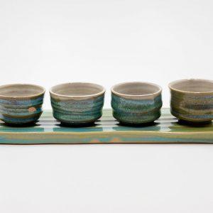 Turquoise Blue Ellery Tea Cup Set
