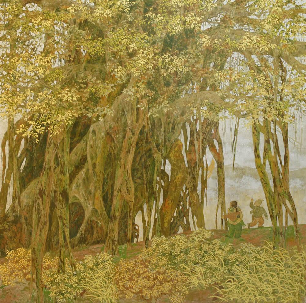 Under the tree I, Vietnam Art Gallery