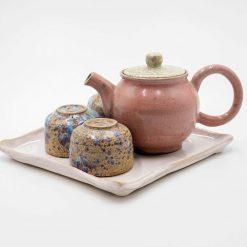 Victoria Ceramic Tea Pot and Cups