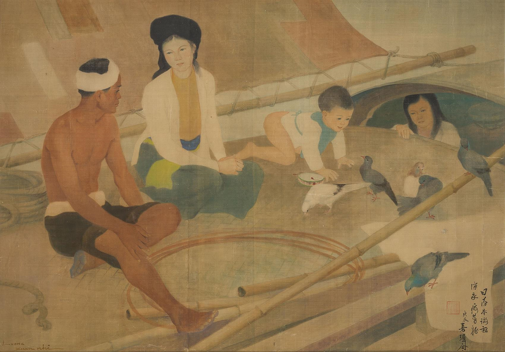 Vietnam Most Famous Paintings - Fishman's Family