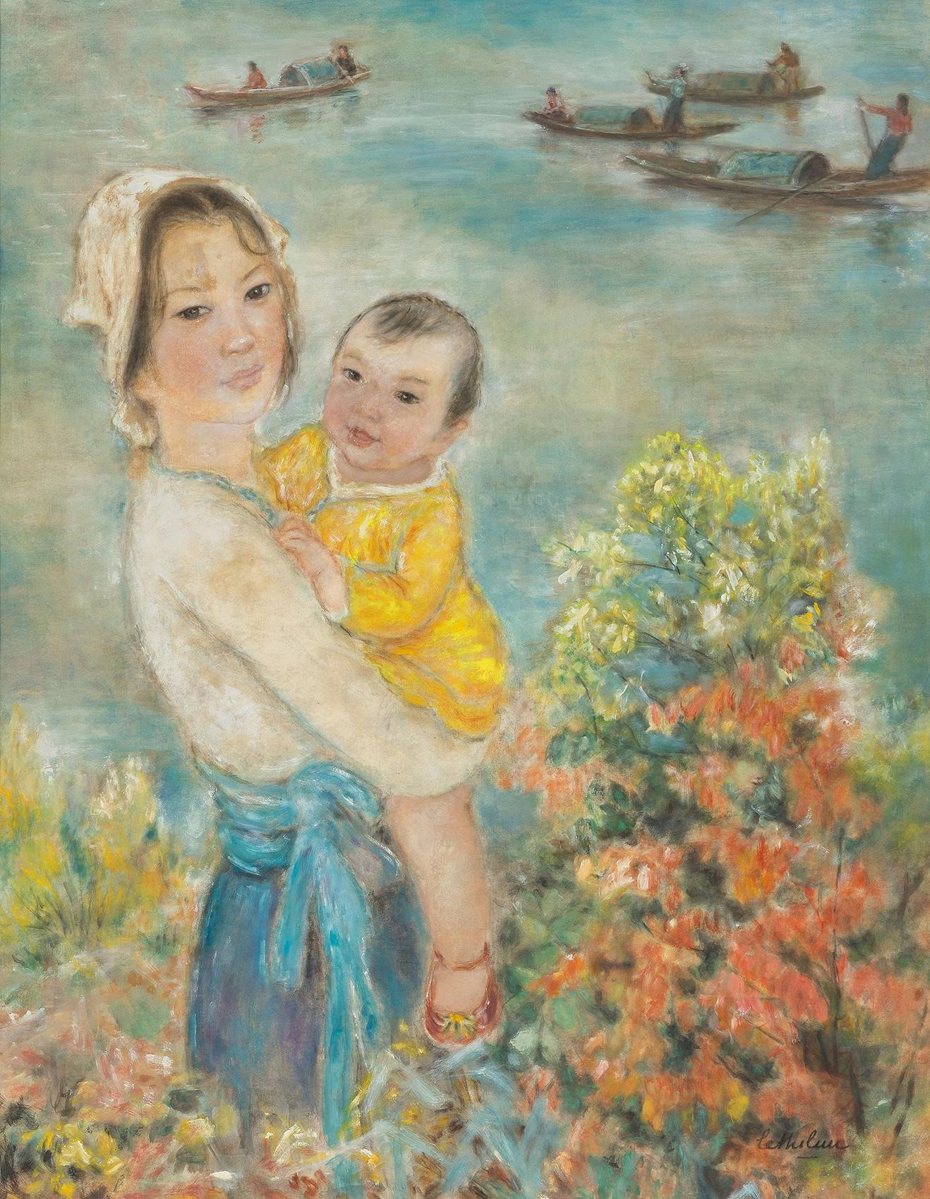 Vietnam Most Famous Paintings - Mother & Child