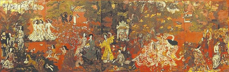 Vietnam Most Famous Paintings - North - Central - South in the Spring Garden
