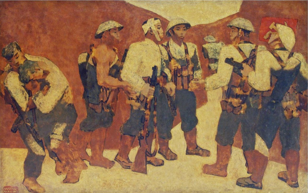 Vietnam Most Famous Paintings - Party Admission Ceremony on the Dien Bien Phu battlefield