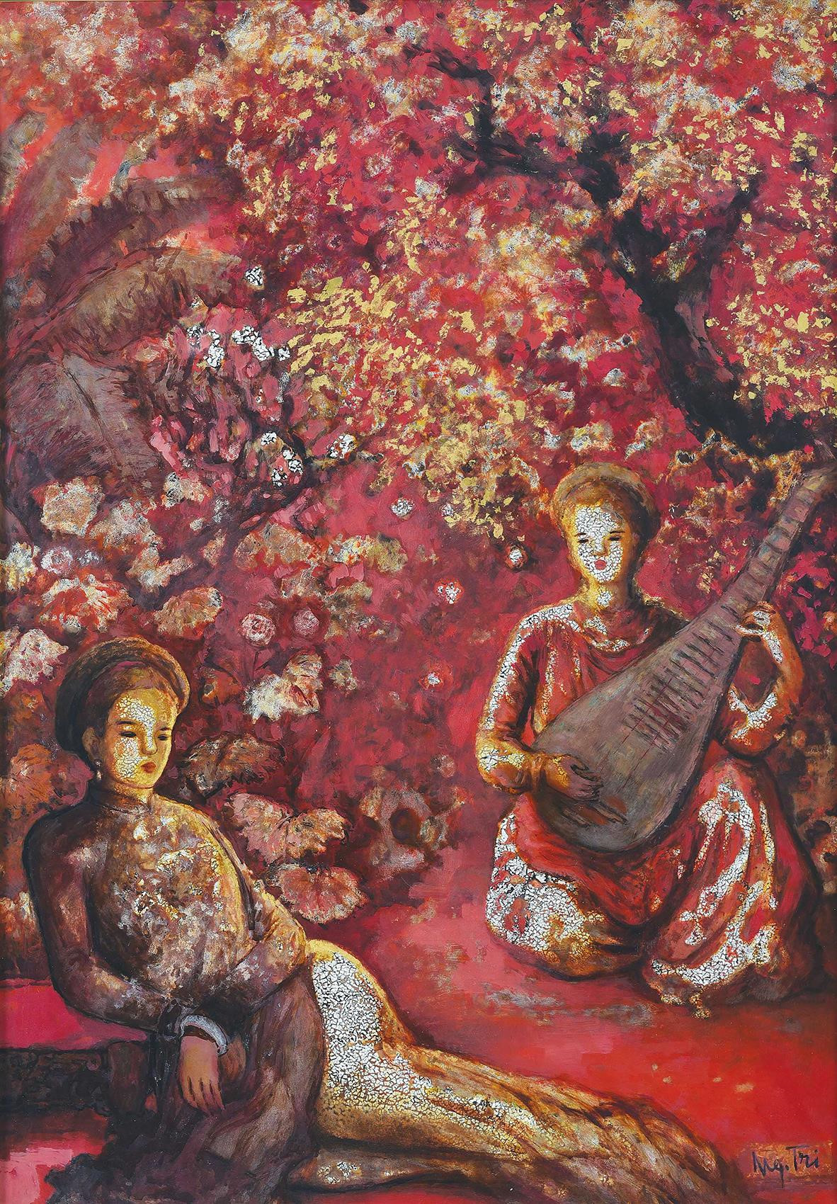 Vietnam Most Famous Paintings - Two Ladies