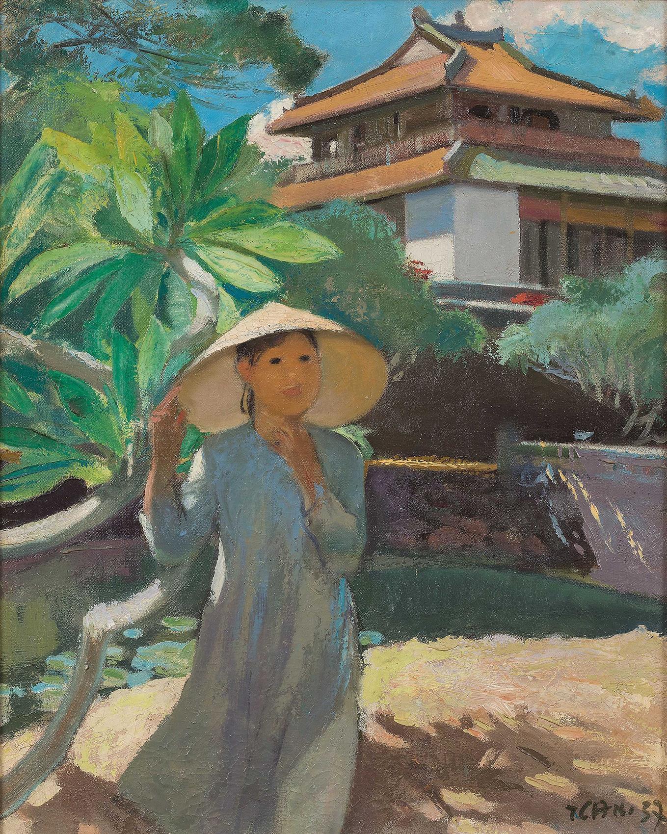 Vietnam Most Famous Paintings - Vietnamese Lady
