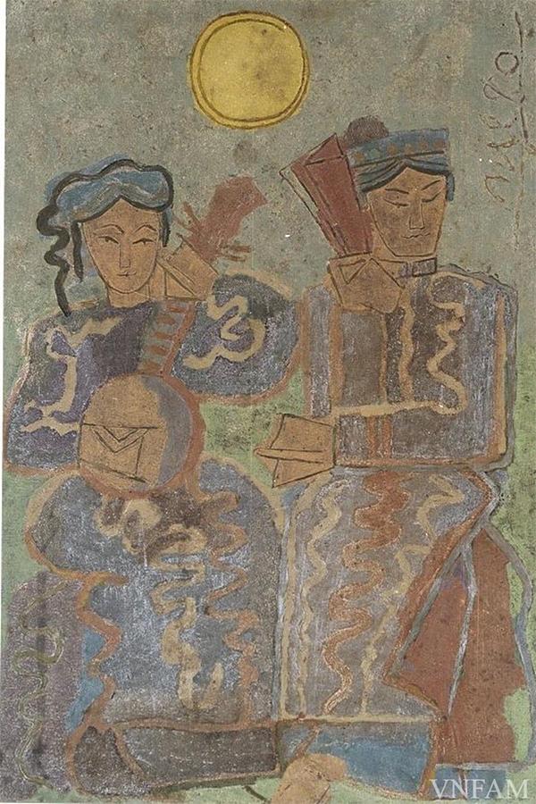 Vietnam Most Famous Paintings - the Ancient Dance