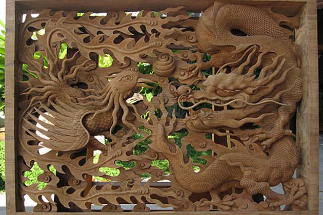 Vietnam Wood carvings painting
