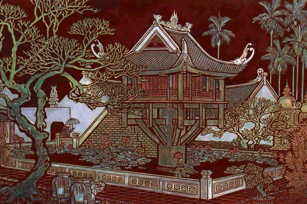 lacquer material in Vietnamese paintings