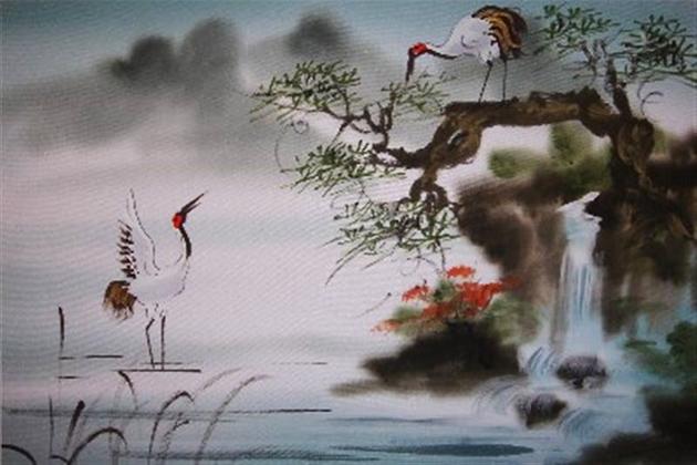 Vietnam silk painting