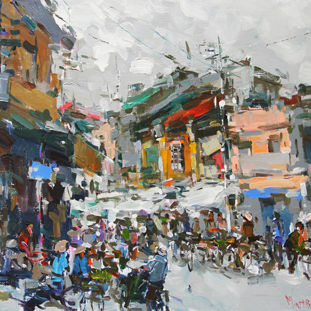 Vietnamese Oil on Canvas Paintings
