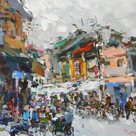 Vietnamese acrylic on Canvas Paintings vietnamese artwork