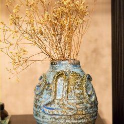 Vintage Aqua Blue Vase