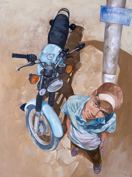 Waiting for work by Luong Trung artist