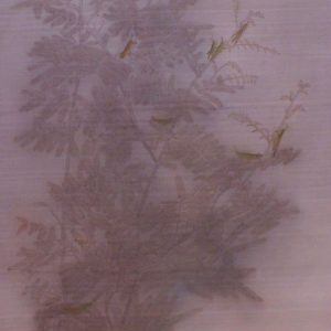 Walking around in the Garden - Vietnamese Watercolor on Silk by Le Thuy