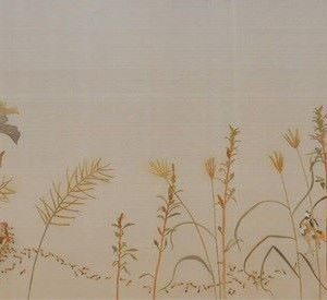 Where to Find Peace? - Vietnamese Watercolor on Silk by Artist Le Thuy