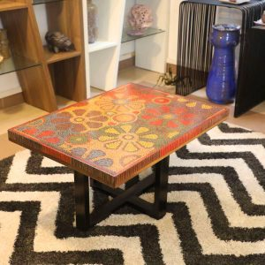 Wild Cosmos Flower Colored-Pencil Coffee Table 10