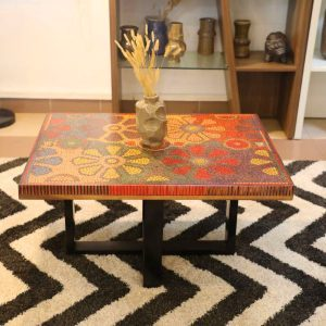 Wild Cosmos Flower Colored-Pencil Coffee Table 11