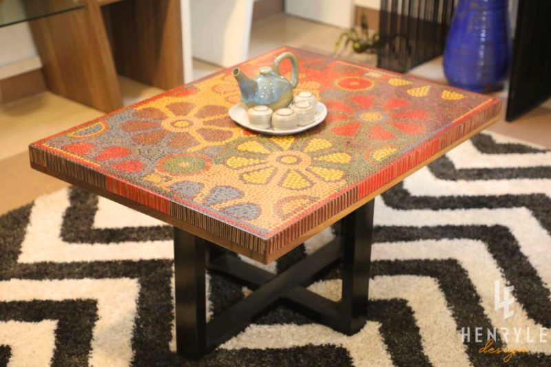 Wild Cosmos Flower Colored-Pencil Coffee Table 12