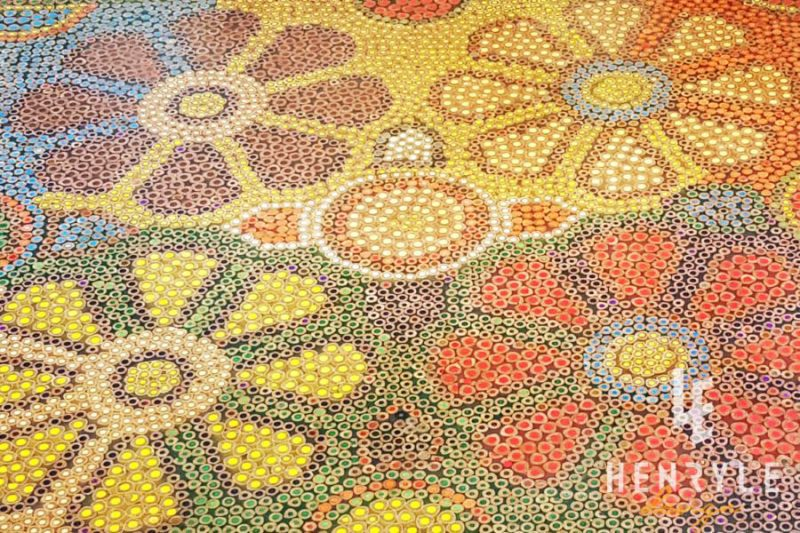 Wild Cosmos Flower Colored-Pencil Coffee Table 13