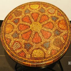 Wild Cosmos Flower Colored-Pencil Coffee Table III 2