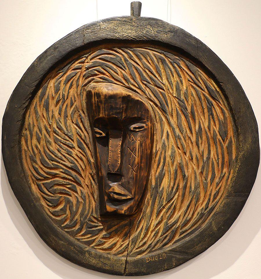 Wooden Portrait 35 - Bui Duc